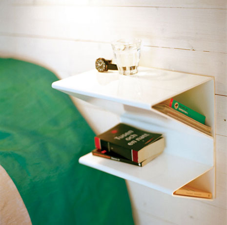 Zigzag Formed Bedside Table