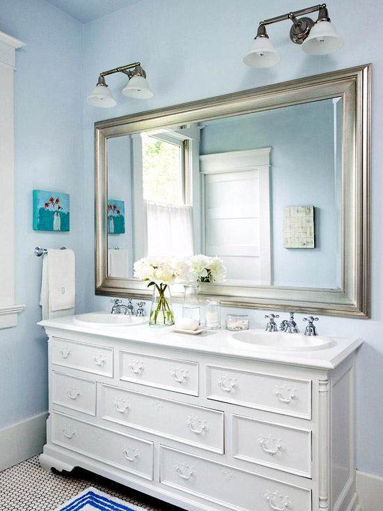 Console Style Sink Bathroom