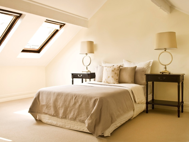 Simple Neutral Attic Bedroom