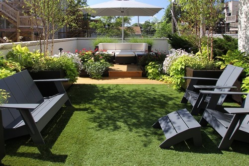 Beautiful roof garden design ideas for Rooftop landscape design