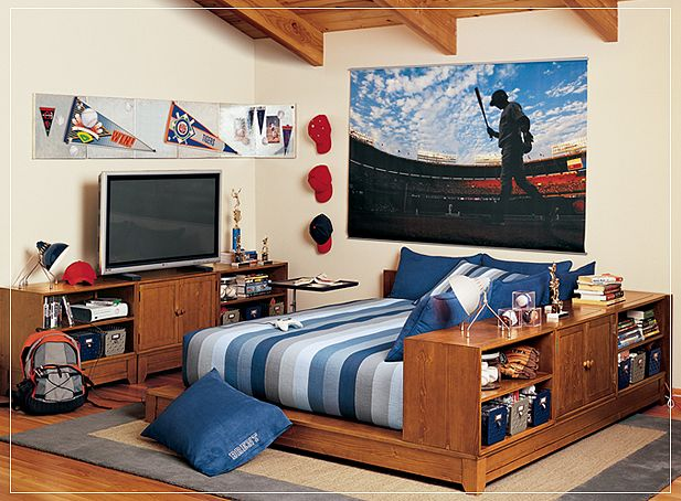 Cool Teenage Bedroom Ideas For Boys Sporty Teenage Bedroom