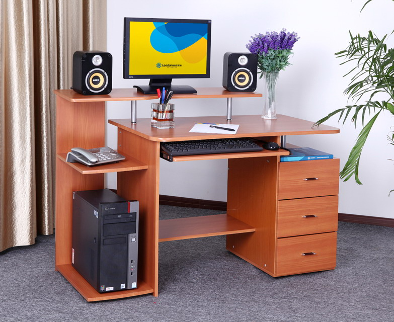 Fresh Style Wooden Home Computer Desk Design