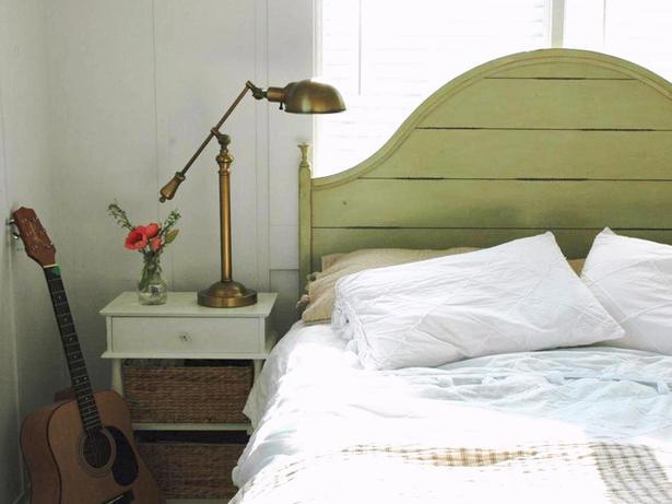 Rie Green Headboard Bedroom