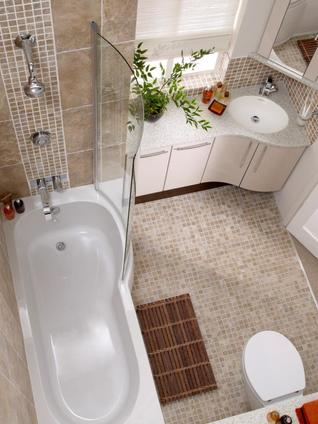 Amazing compact designs for your bathrooms for Small full bath ideas