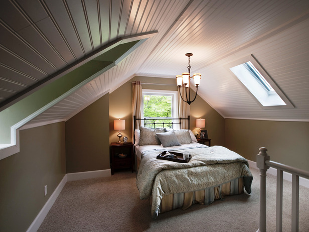 Bead Board Attic Bedroom