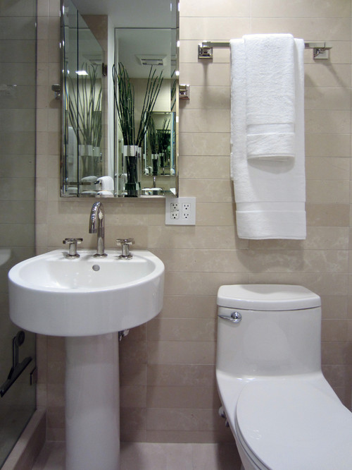 Simple ideas for a comfy bathroom experience for Simple bathroom designs for small spaces