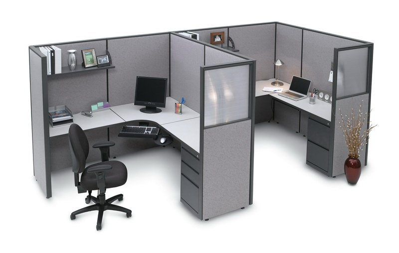 Durable Double Cubicle Desk