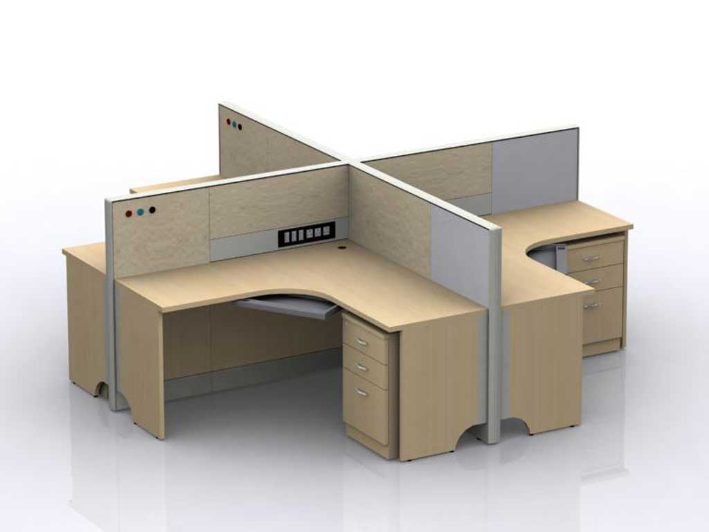 Four Cornered Cubicle Desk