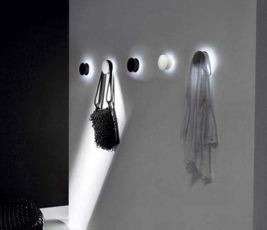 Black and White Wall Hook Light