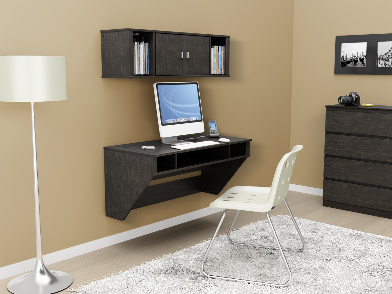Minimalist Computer Desk with Corner Desk Design