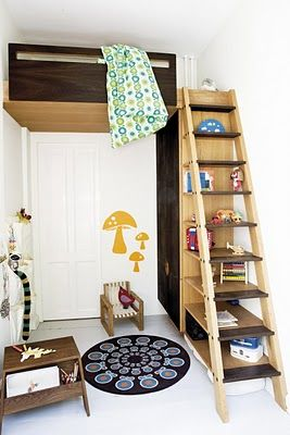 Ladder Shelves Small Bedroom Ideas