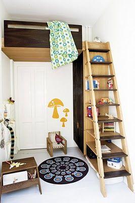 Ladder Shelves Small Bedroom Ideas