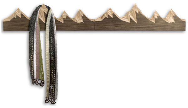 Mountain Design Coat Rack