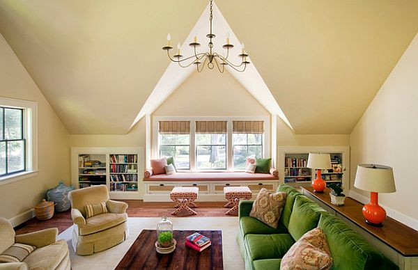 Colorful Makeover Living Room Conversion
