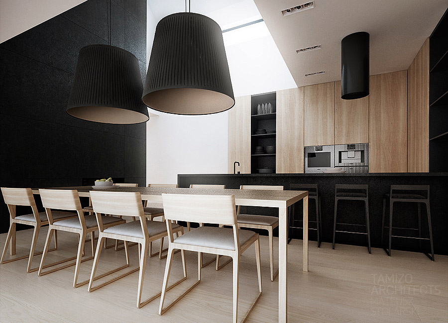 8. Dining Room Style with Dual Lamp
