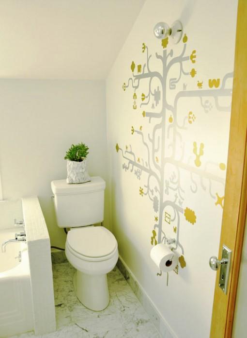 Artistic Compact Bathroom Design