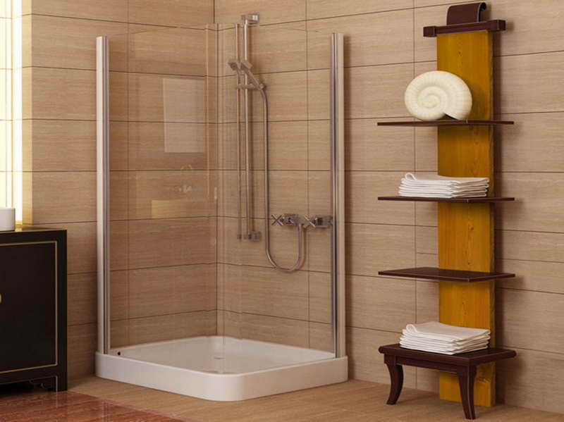 Ideas for small bathrooms for Tiny bathroom shower ideas