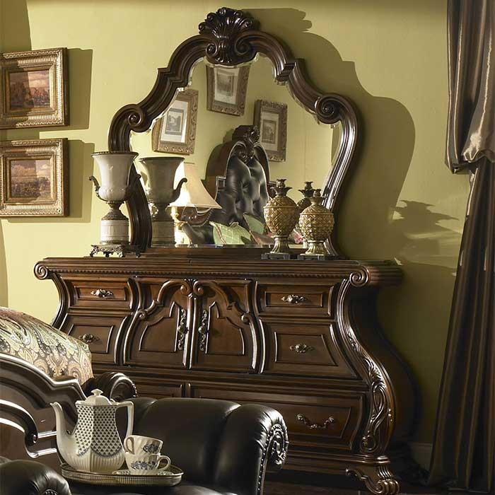 A Victorian Style Palace Gates Dresser and Mirror - Copy