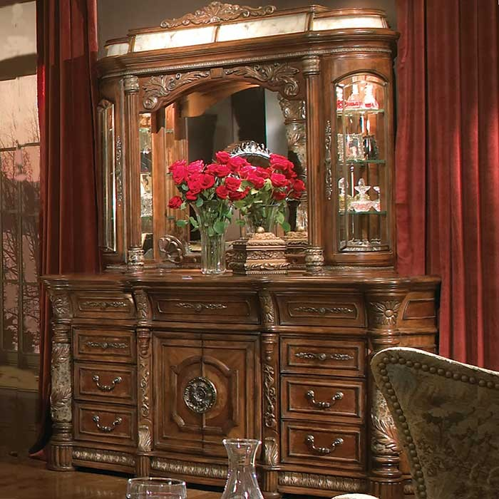A Victorian Style Renaissance Dresser and Mirror - Copy