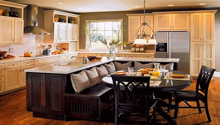 L Shaped Kitchen With Island Designs Glamorous Design Inspiration