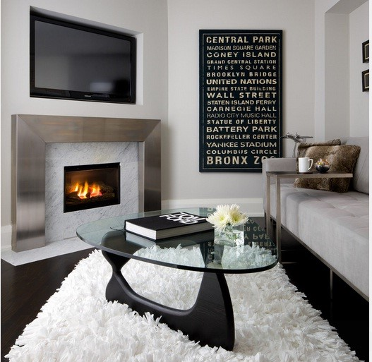 Clean-minimalist living room design