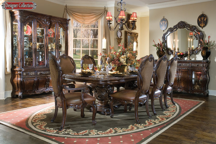 cornwall manor victorian-style dining set