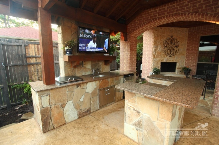 outdoor vitange style kitchen
