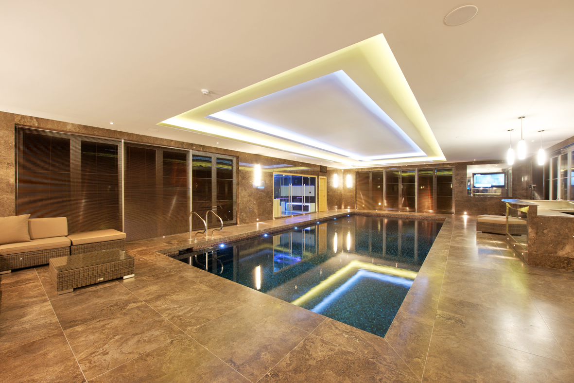 calming warm indoor pool