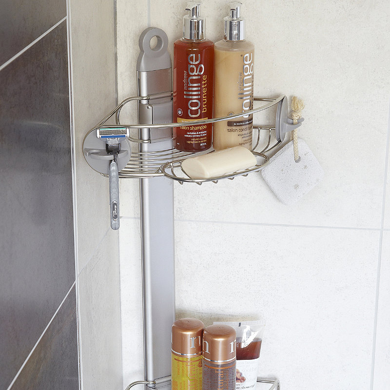 simple corner shower caddy
