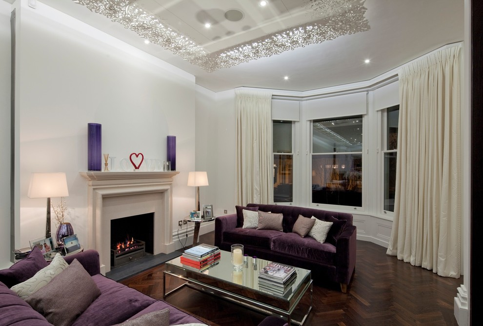 10 purple modern living room decorating ideas interior for Living room ideas purple