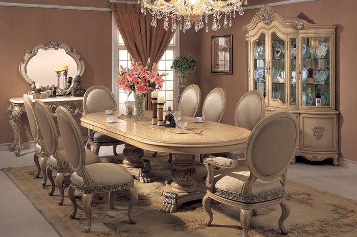 Victorian style chardonnay dining