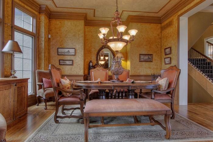 Victorian modern dining room