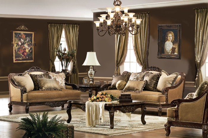 10 victorian style living room designs for Edwardian living room ideas