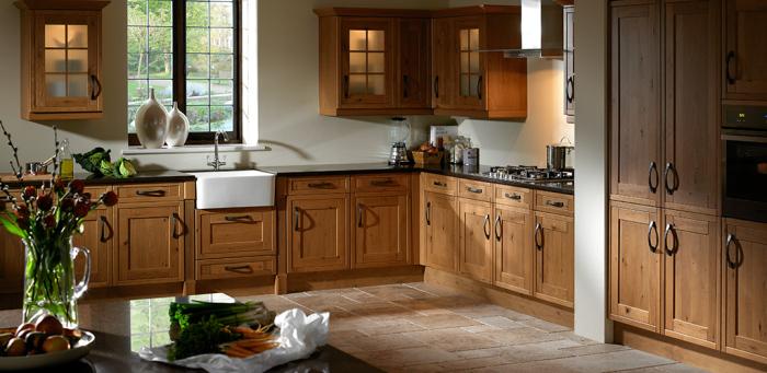 Vintage L-shaped kitchen design
