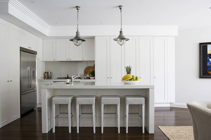 white-L-shaped-kitchen