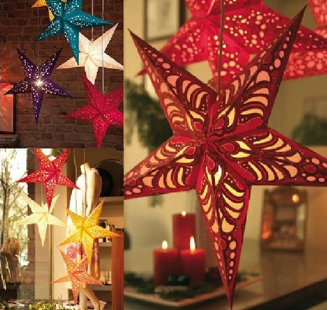 Star Design Christmas Lantern