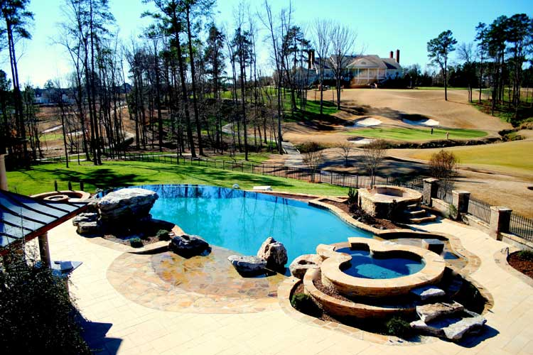Natural Lake Pool with Jacuzzi