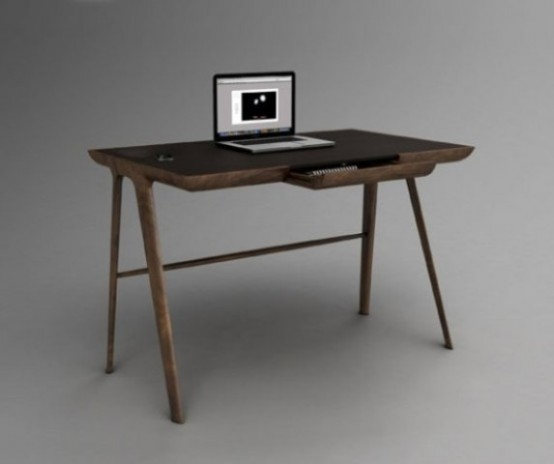 Wooden Simple Desk Design