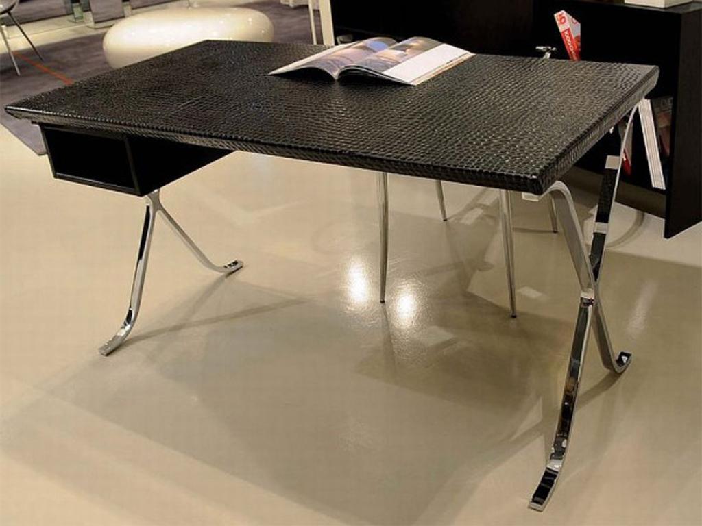 Luxury Crocodile Leather Office Desk