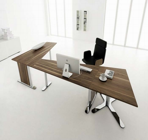 Wooden Plane and Steel Desk Design