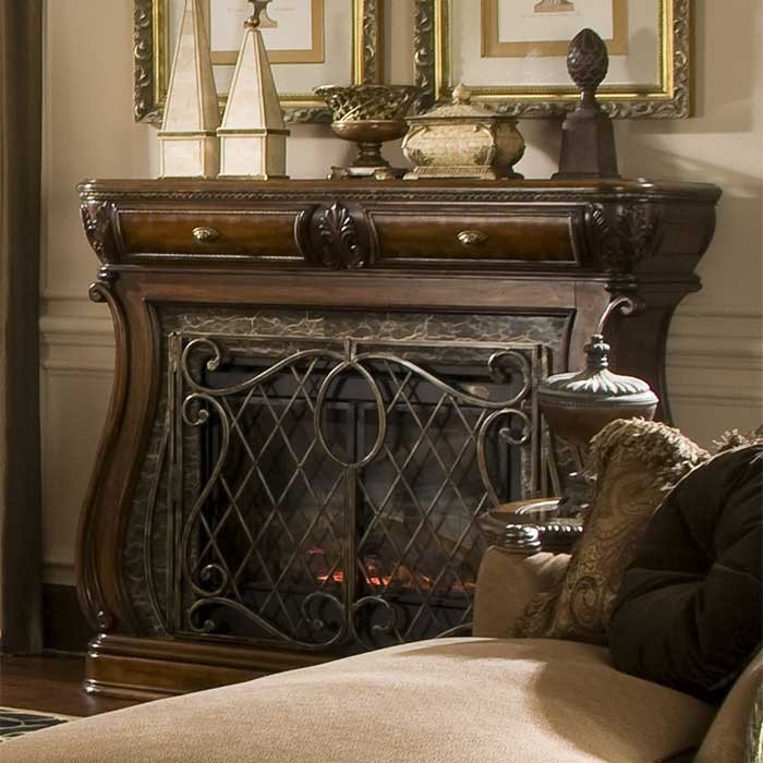 estic Victorian Style Fireplace