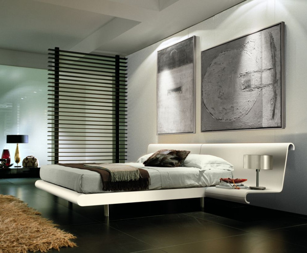 Modern and Monochromatic Bedroom Design