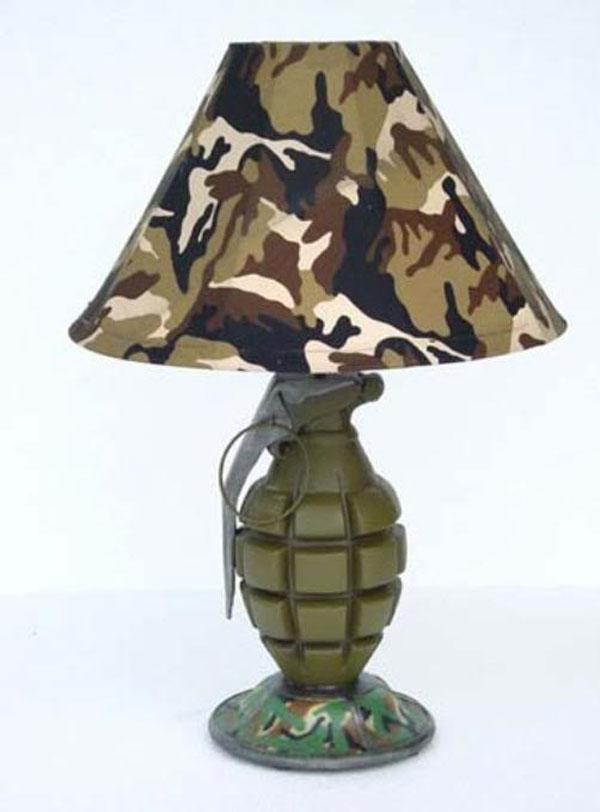 Grenade Styled Lamp