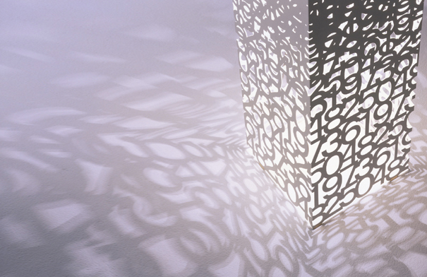 Numeric Symbol Shadow Lamp