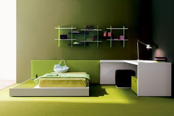 Elegant Green Colored Bedroom