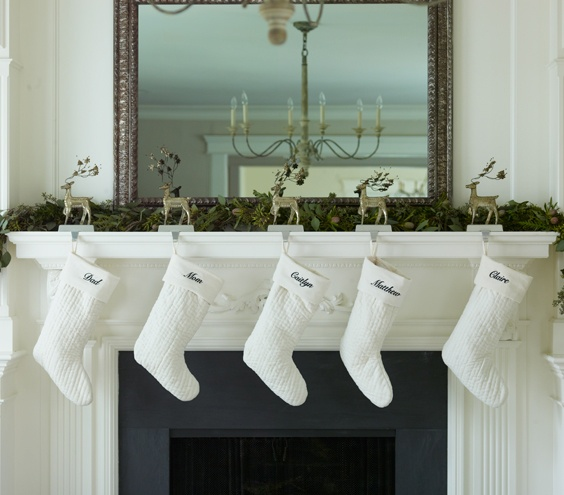 White Stocking in a White Mantel