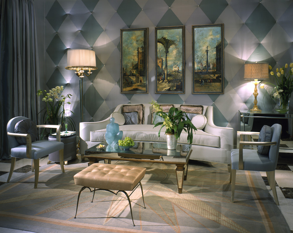 10 inspirational art deco living rooms for Art deco living room design