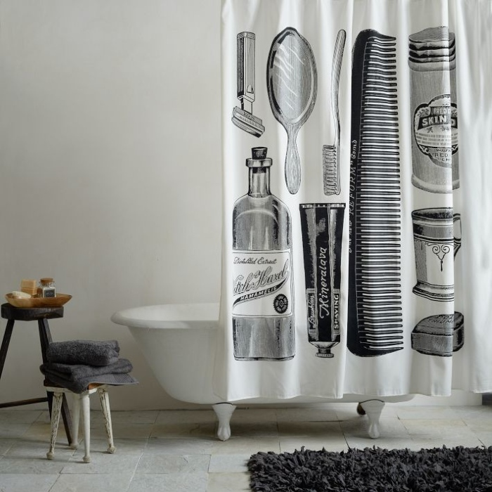 Contemporary-Shower-Curtains