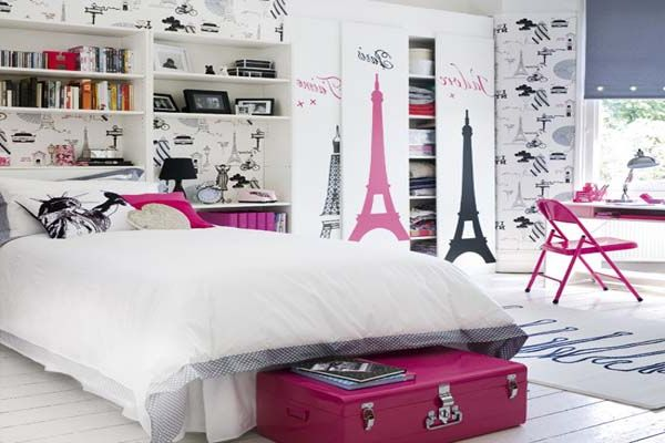Best teenage girls bedroom wallpaper designs Wallpaper for teenage girl bedroom