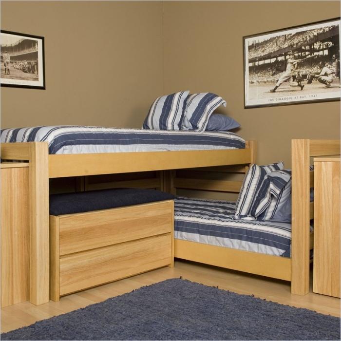 combine two beds corner loft beds triple quad bunk beds